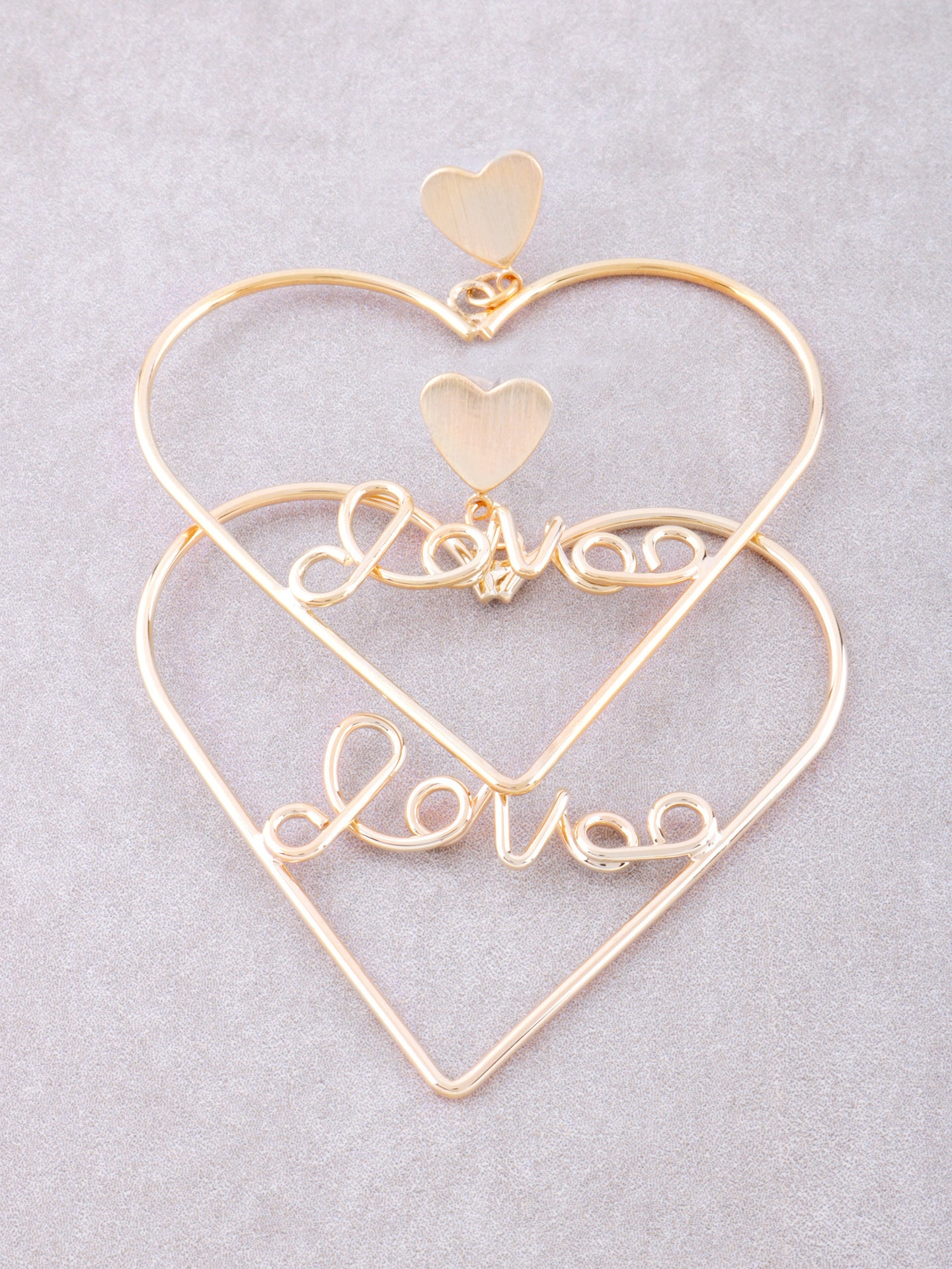 Love Me Heart Earrings Anarchy Street Gold - Details