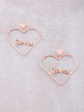 Love Me Heart Earrings Anarchy Street Rosegold