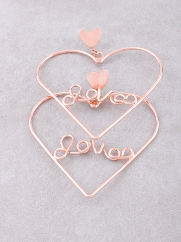 Love Me Heart Earrings Anarchy Street Rosegold - Details
