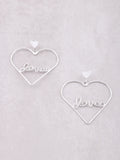 Love Me Heart Earrings Anarchy Street Silver