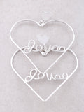 Love Me Heart Earrings Anarchy Street Silver - Details