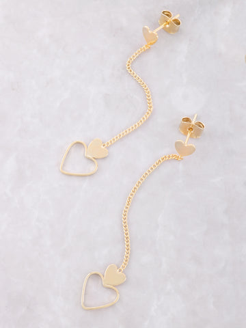 Hanging Hearts Earrings Anarchy Street Gold
