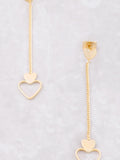 Hanging Hearts Earrings Anarchy Street Gold - Details