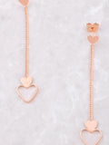 Hanging Hearts Earrings Anarchy Street Rosegold - Details