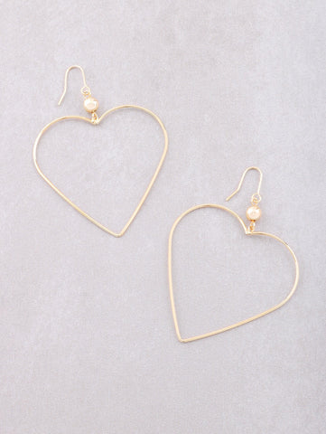 Wired Heart Earrings Anarchy Street Gold