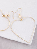 Wired Heart Earrings Anarchy Street Gold - Details