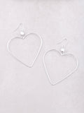 Wired Heart Earrings Anarchy Street Silver