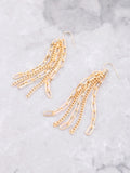 Multiple Chain Drop Earrings Anarchy Street Gold