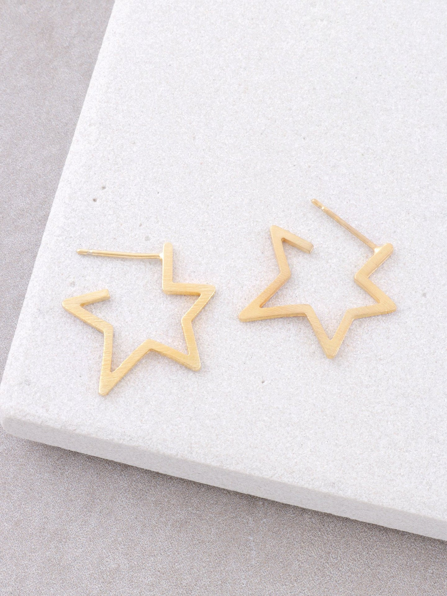 Starburst Stud Earrings Anarchy Street Gold