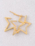 Starburst Stud Earrings Anarchy Street Gold - Details