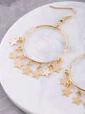 Hanging Stars Hoop Earrings Anarchy Street Gold - Details