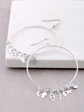 Protect Me Charm Hoop Earrings Anarchy Street Silver