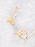 Pave Arrow Stud Earrings Anarchy Street Gold - Details