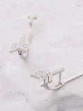 Pave Arrow Stud Earrings Anarchy Street Silver - Details