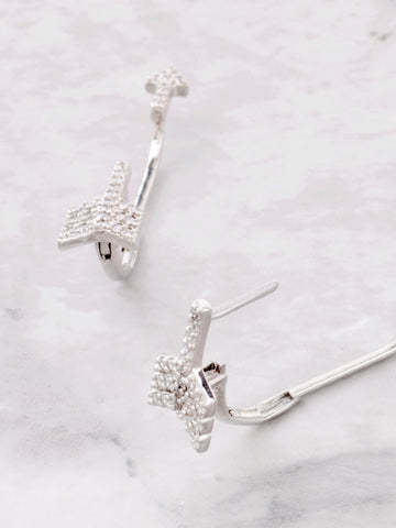 Pave Arrow Stud Earrings