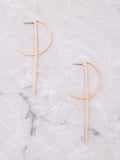 Scoop Bar Earrings Anarchy Street Gold