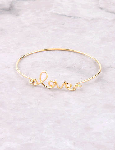 Wire Love Bracelet Anarchy Street Gold