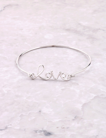 Wire Love Bracelet Anarchy Street Silver