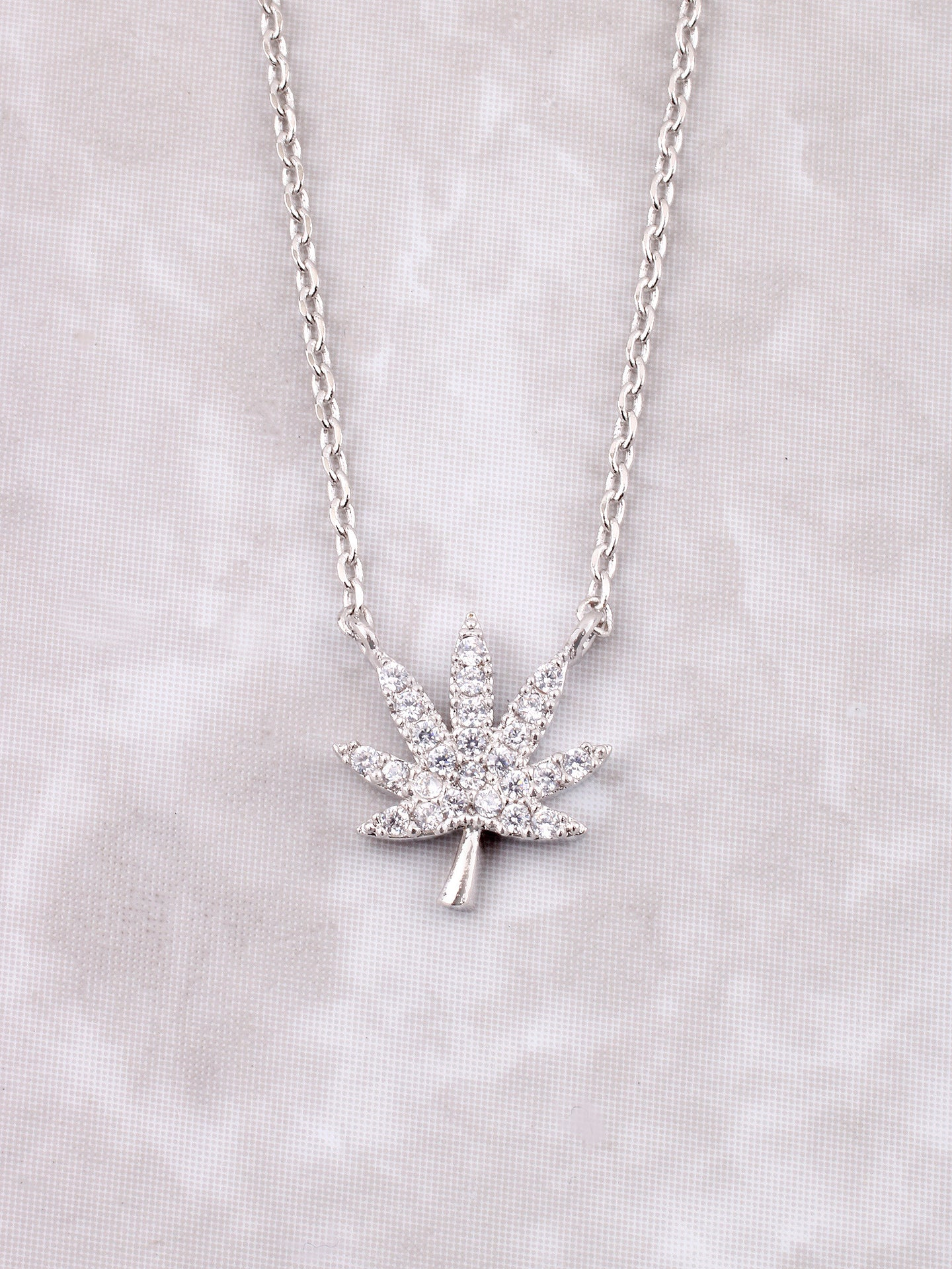 Mary Jane Pave Necklace Anarchy Street Silver