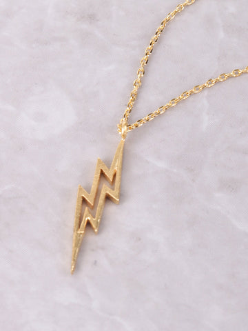 Lightning Bolt Necklace Anarchy Street Gold