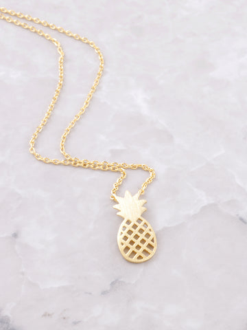 Diced Pineapples Necklace Anarchy Street Gold