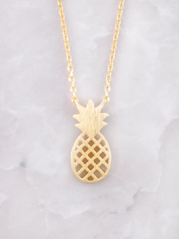 Diced Pineapples Necklace Anarchy Street Gold - Details