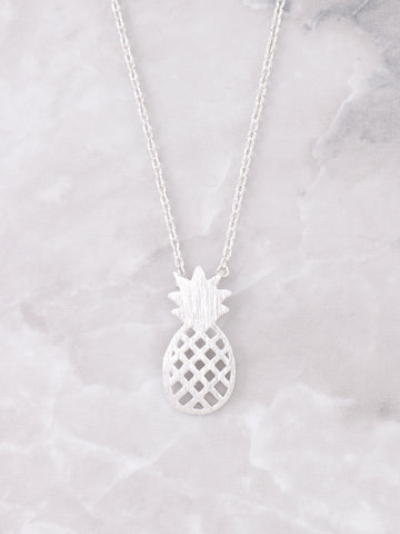 Diced Pineapples Necklace Anarchy Street Silver - Details
