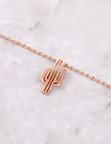 Desert Flower Necklace Anarchy Street Rosegold - Details