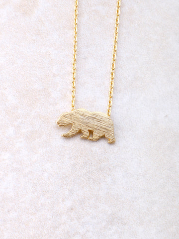 Bear Necklace Anarchy Street Gold