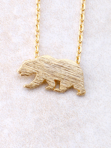 Bear Necklace Anarchy Street Gold - Details