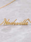 Hometown Necklace Anarchy Street Gold - Details - 63