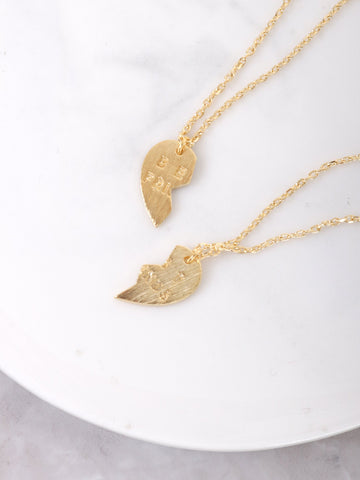 Best Friends Necklace Anarchy Street Gold - Details