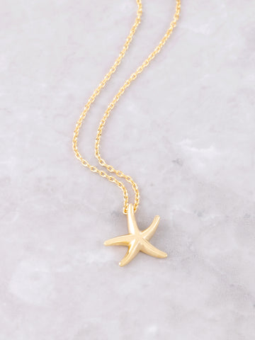 Starfish Necklace Anarchy Street Gold