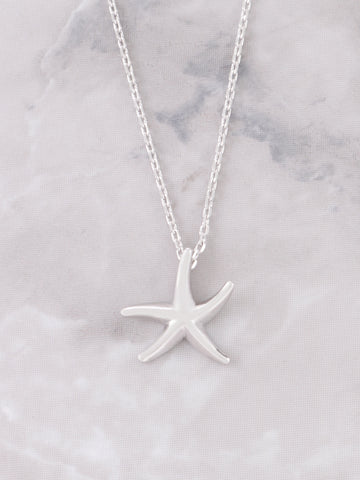 Starfish Necklace Anarchy Street Silver - Details