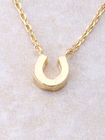 Horseshoe Necklace Anarchy Street Gold - Details