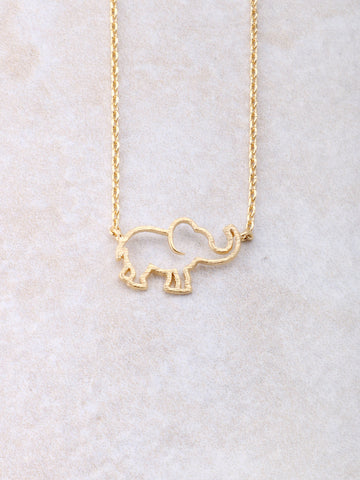 Hollow Elephant Necklace Anarchy Street Gold