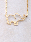 Hollow Elephant Necklace Anarchy Street Gold - Details