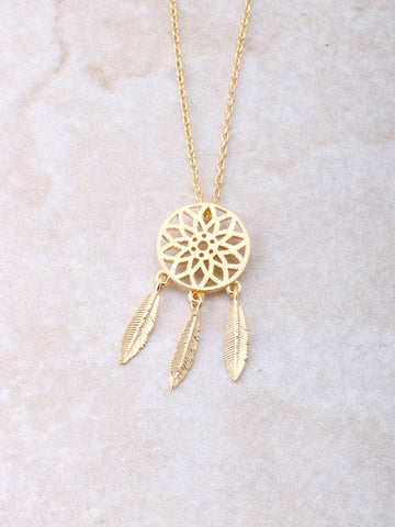 Dream Catcher Necklace Anarchy Street Gold