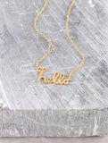 Say Hello Necklace Anarchy Street Gold