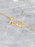 Say Hello Necklace Anarchy Street Gold - Details