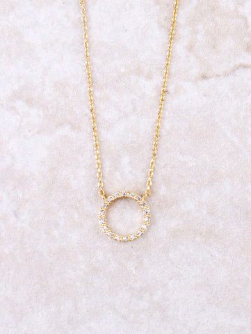 Infinite Pave Circle Necklace Anarchy Street Gold