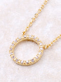 Infinite Pave Circle Necklace Anarchy Street Gold - Details