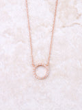 Infinite Pave Circle Necklace Anarchy Street Rosegold