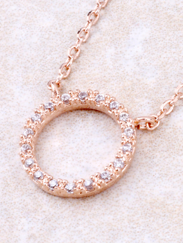 Infinite Pave Circle Necklace Anarchy Street Rosegold - Details