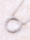 Infinite Pave Circle Necklace Anarchy Street Silver - Details