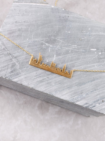 Skyline Necklace Anarchy Street Gold-NYC