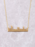 Skyline Necklace Anarchy Street Gold - Details-NYC