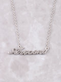 Hometown Necklace Anarchy Street Silver - 34