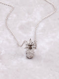 Pave Pineapple Pendant Necklace Anarchy Street Silver