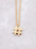 Hashtag Necklace Anarchy Street Gold